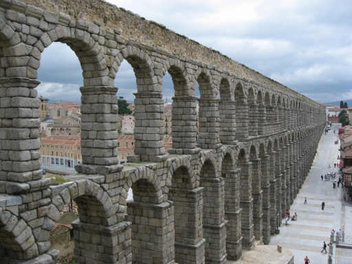 Aqueduct in Segovia, Spain