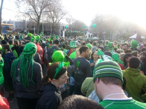St. Patrick's Day Dash Start Line