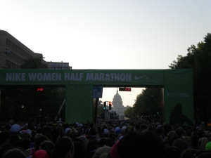 Start Line, looking towards the Capital