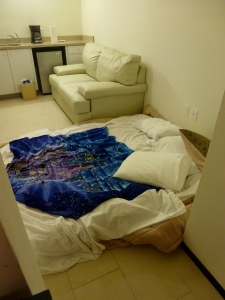 First night - mattress on the floor