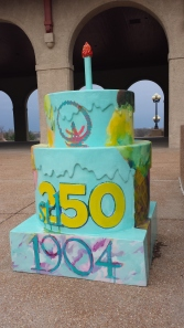 World's Fair Pavilion Birthday Cake