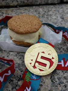Medal with a side of ice cream