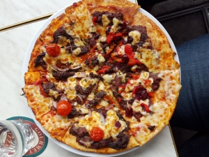 Kangaroo & emu pizza