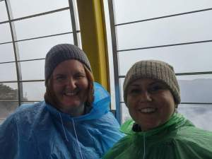 On the skyway (like how we have Seahawks colored ponchos?)