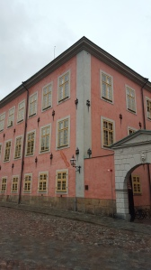 Pretty pink building